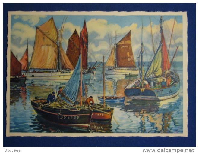 -Port De Peche(Concarneau ?) Par Charles Viaud- - Other Illustrators