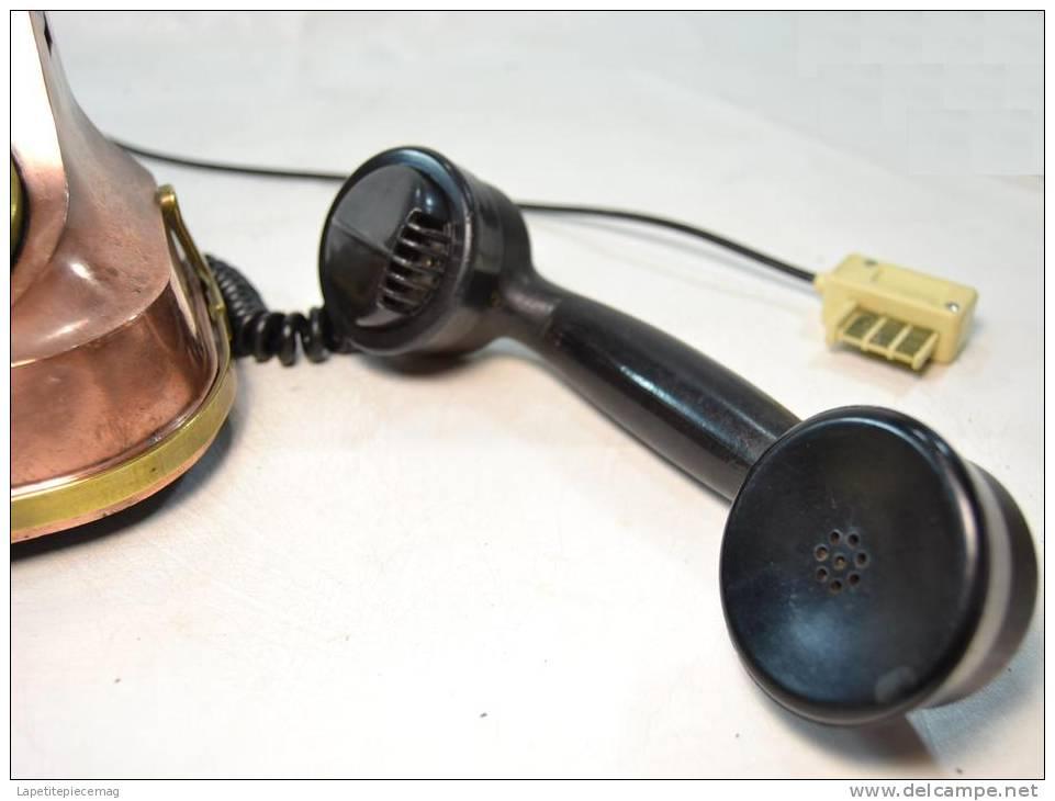 Ancien Telephone En Cuivre, Années 1950 - 1960. - Cuivres