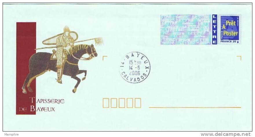 Enveloppe France 20 G.  Logo Bleu  VTapisserie De Bayeux   Oblitéré Non Adressé - Prêts-à-poster:  Autres (1995-...)