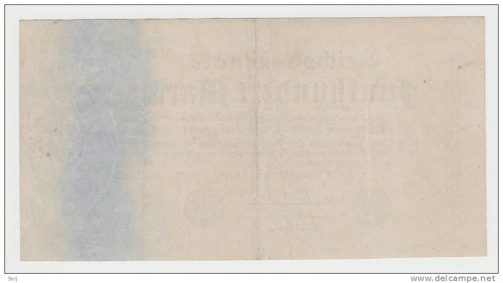 Germany 500 Mark 1922 VF++ Banknote (7 Green Digit) P 74b 74 B - 1918-1933: Weimarer Republik