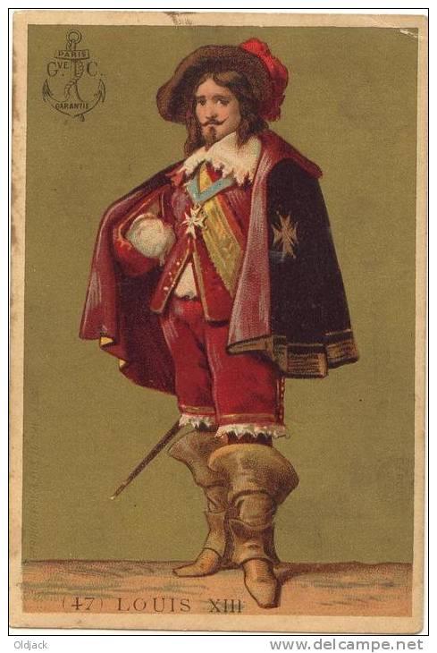 LOUIS XIII Chromo Offert Par La Maison Des Buscs A L'ANCRE - Trade Cards