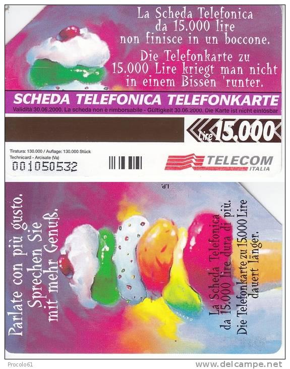 GOLDEN AA 68 TELEFONKARTE ALTO ADIGE BILINGUE PARLATE GELATO  Us. - Pubbliche Pubblicitarie