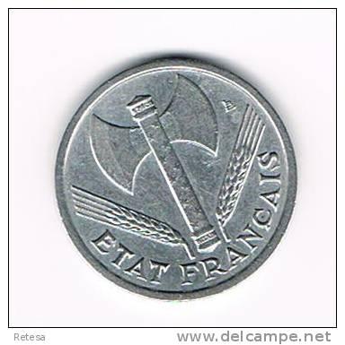 00 FRANKRIJK 1 FRANC 1942  VICHY - H. 1 Franco