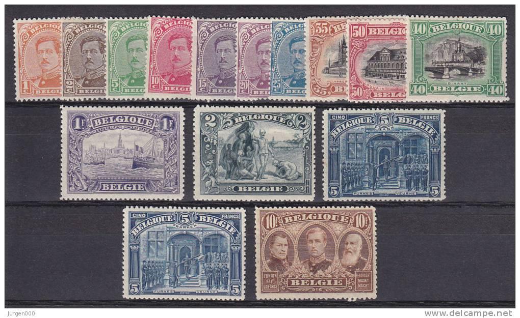 Nr 135/149 *, Cote = 560 € (X13815) - 1915-1920 Albert I