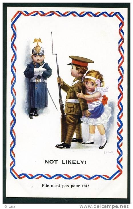CPA. GUERRE 1914-1918. ILLUSTRATION Signée A. A. Nask.   Elle N´est Pas Pour Toi ! - Humoristiques