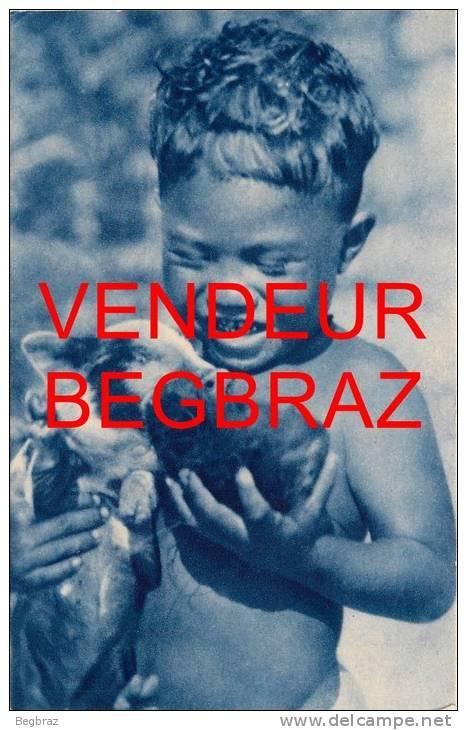 MISSIONS DOCEANIE    DEUX AMIS    ENFANT  COCHON - Postkaarten