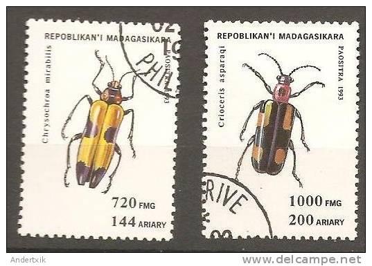 Madagascar, 1993, Insectos X 2 - Madagascar (1960-...)