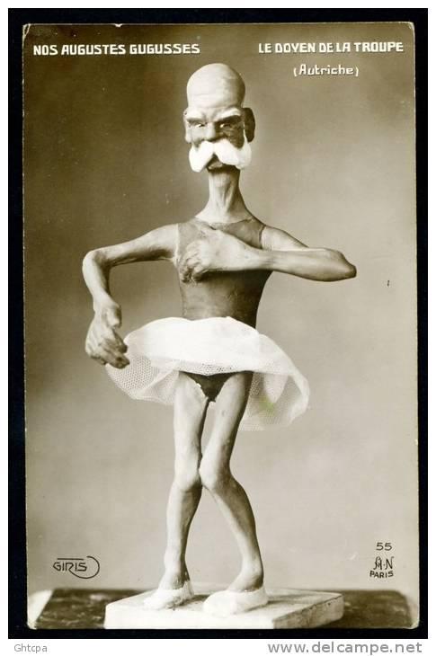 CPA. CARICATURE MILITAIRE  GUERRE 1914-1918. NOS AUGUSTES GUGUSSES. LE DOYEN DE LA TROUPE. - Humoristiques