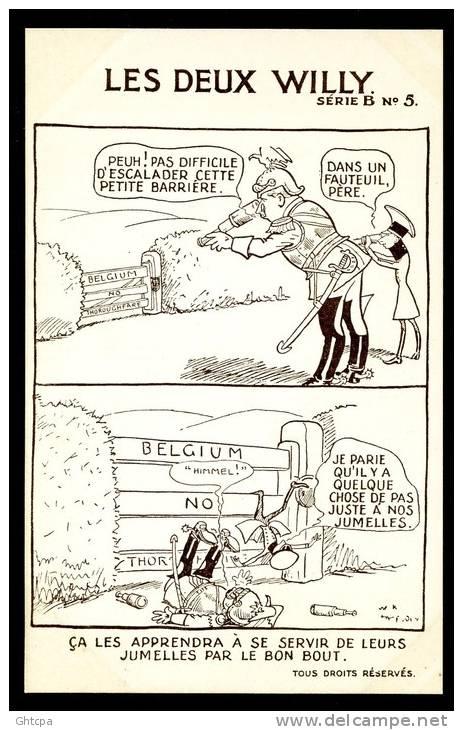 CPA. ILLUSTRATEUR Carte Signée W. K. Hadelsen. ...SE SERVIR DE LEURS JUMELLES...  Série B,  N°5. - Humoristiques