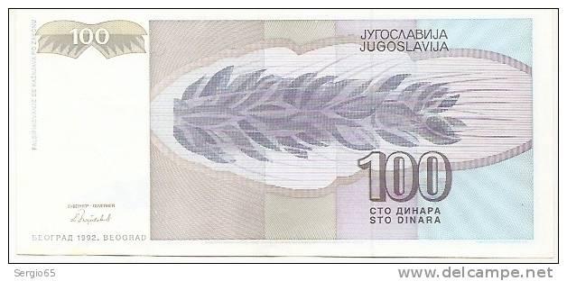100 Din - 1992 - Yougoslavie