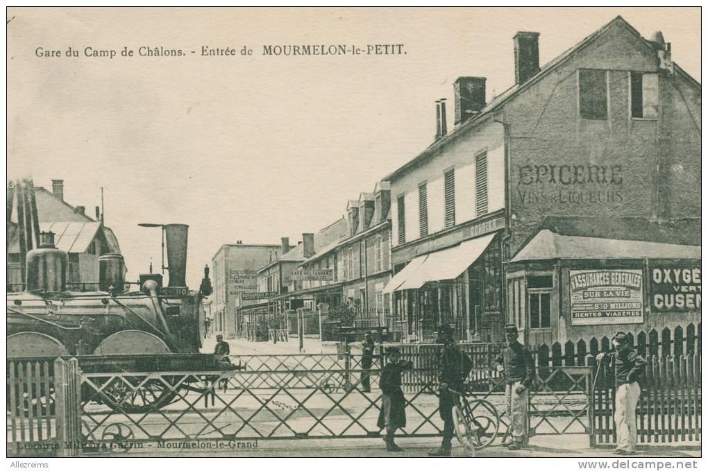 CPA 51 :   MOURMELON  LE PETIT  Entrée Avec Train   A   VOIR  !!!!!! - France