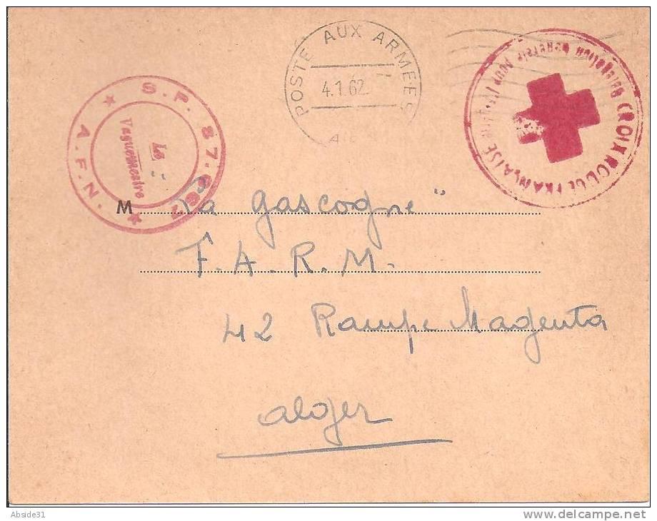 Croix-Rouge Française-Délégation Générale D´Algérie- Accusé De Réception D´un Colis - Guerra D'Algeria