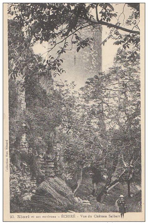 79 ECHIRE  Fillette Sur Le Chemin Du CHATEAU SALBART - Non Classificati
