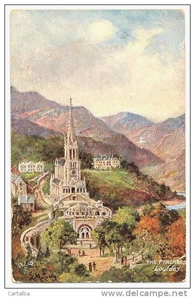 CPA 64 Hautes Pyrénées Lourdes La Basilique Illustrateur Oilette - Autres Illustrateurs