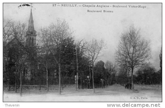 NEUILLY      CHAPELLE ANGLAISE    BOULEVARD VICTOR HUGO   BOULEVARD BINEAU - Neuilly Sur Seine