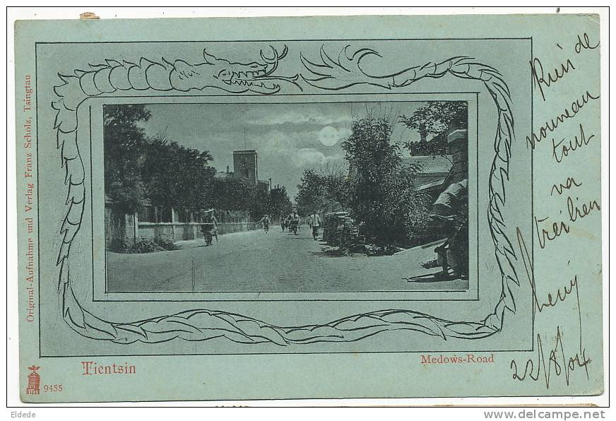 Tientsin Medows Road Franz Scholtz   P. Used French Chinese Bureau  Shanghai Dragoon - Chine
