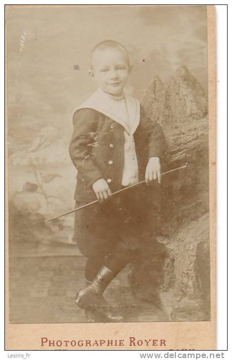 PHOTO SUR CARTON - ROYER - CAEN  - 1894 - GARCONNET - Fotos