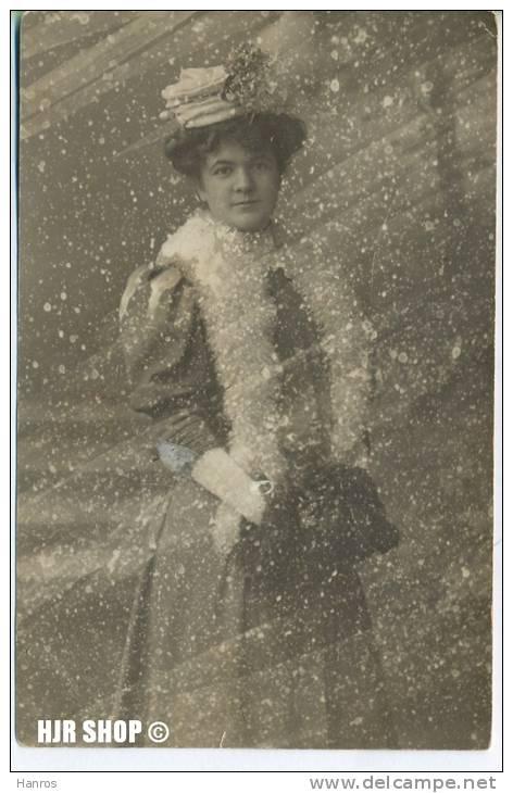 """Um 1910/1920 Ansichtskarte """"Schneetreiben"""", Ungebrauchte Karte In  Guter Erhaltung - Scherenschnitt - Silhouette"""