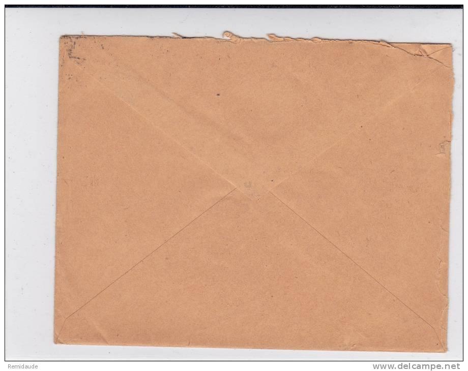 EGYPT - 1916 - YVERT N°49 SEUL Sur ENVELOPPE COMMERCIALE De CAIRE Pour PARIS - 1915-1921 Protectorat Britannique