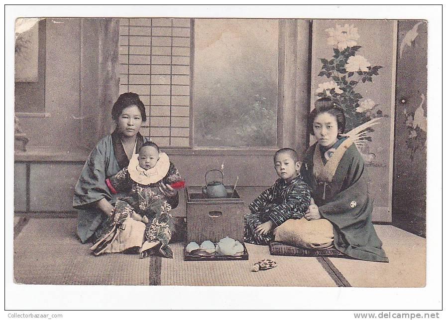 [W817] Tea Ceremony & Geisha Japan Vintage Ca 1900 Postcard - - Volkeren & Culturen
