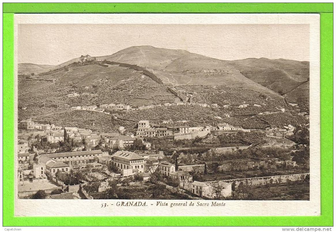 GRANADA / VISTA GENERAL DE SACRO MONTE / Tarjeta Virgen - Granada