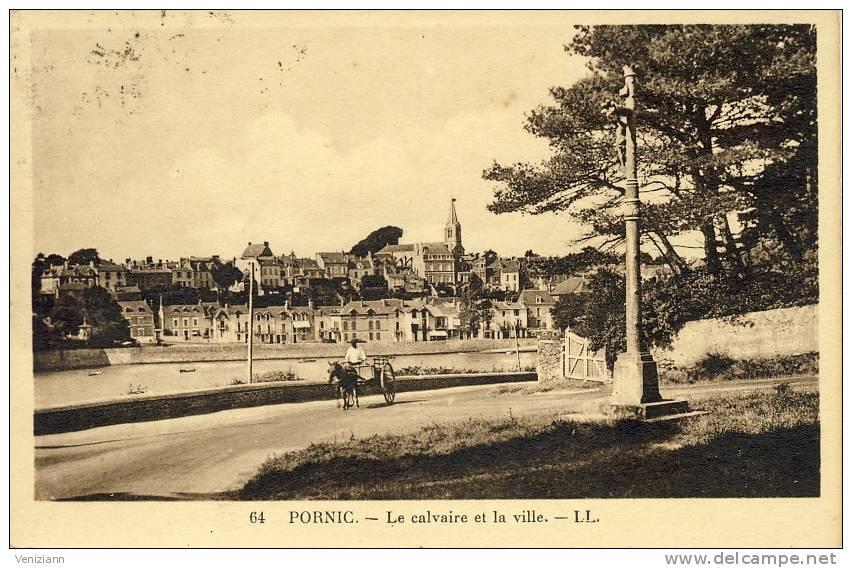 PORNIC - Le Calvaire Et La Ville, Animé - Pornic