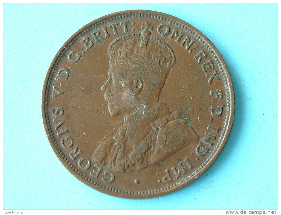1922 - ONE PENNY / KM 23 ( Uncleaned Coin / For Grade, Please See Photo ) !! - Penny