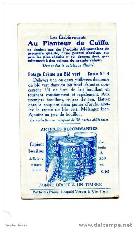 Planteur De  Caïffa CAIFFA Jolie Chromo Recette Cuisine Crème Au Blé Vert épouvantail - Trade Cards