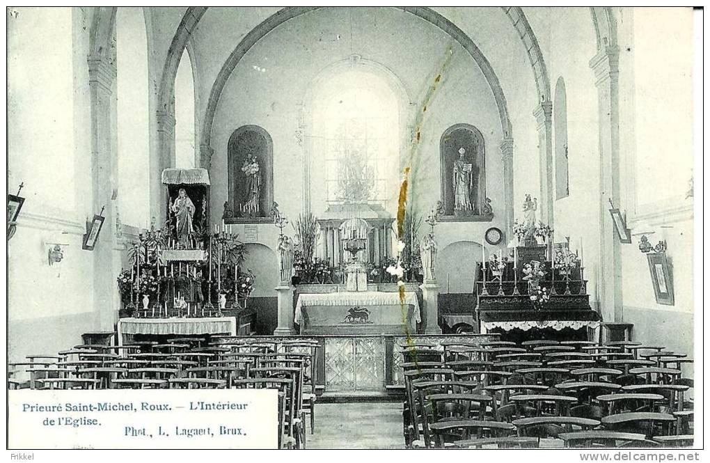 Roux Prieuré Saint-Michel L'Intérieur De L'Eglise - Charleroi