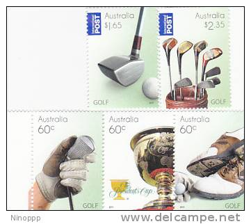 Australia-2011Golf Set MNH - Mint Stamps