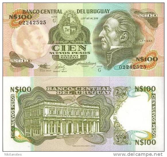 * URUGUAY - 100 NUEVOS PESOS ND (1987) UNC - P 62A - Uruguay