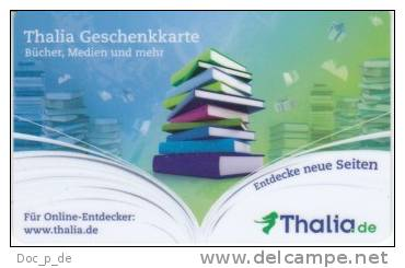 Germany - Allemagne - Thalia Book Store - Carte Cadeau - Carta Regalo - Gift Card - Geschenkkarte - Gift Cards
