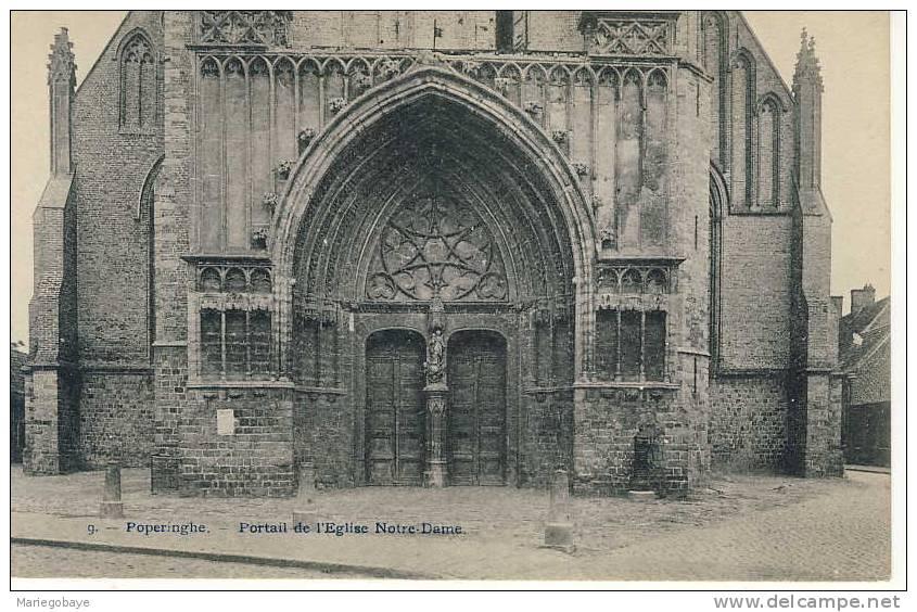 1911 Poperinge OLV Kerk Notre-Dame Bertels 9 (léger Arrachement Au Verso) - Poperinge