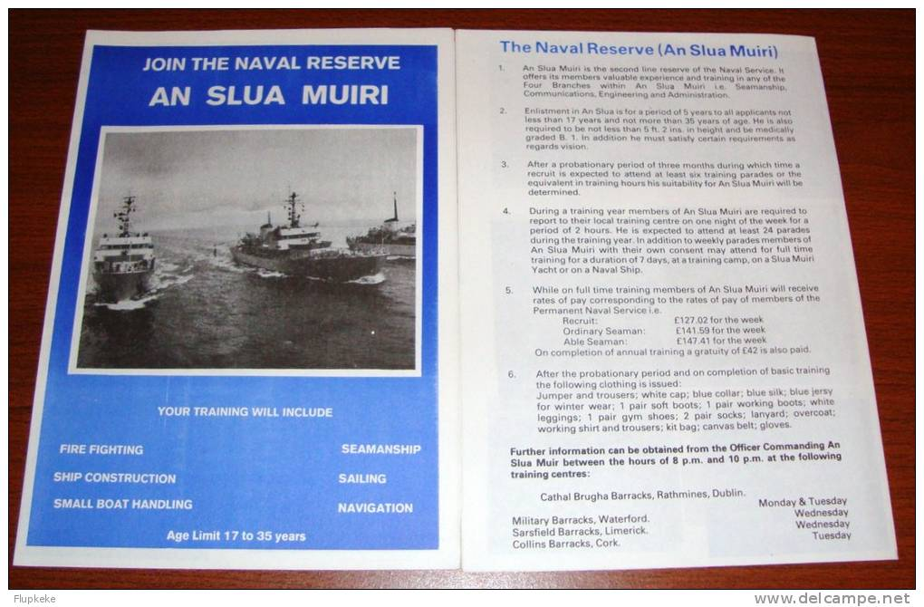 Brochure Join The Naval Reserve An Slua Muiri Department Of Defense Dublin - Frans