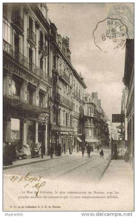 CPA PRECURSEUR NANTES (Loire Atlantique) - Rue Du Calvaire - Nantes