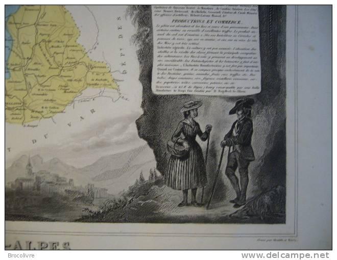 -Levasseur-1866-Carte Géographique Des Basses Alpes- - Geographical Maps