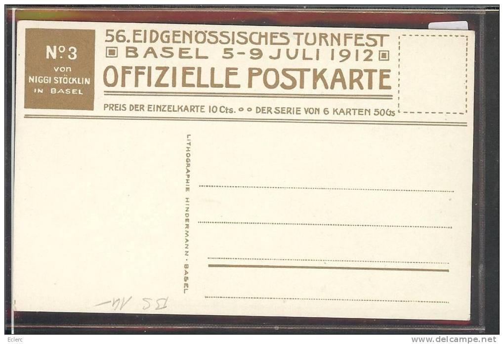 BASEL - 56. EIDG. TURNFEST JULI 1912 - TB - BS Basle-Town