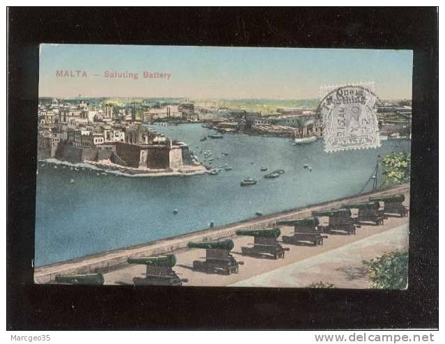 Malte Malta Saluting Battery édit.ufficio Revisione Stampa  29 3 1917 N° 132 Couleur - Malta