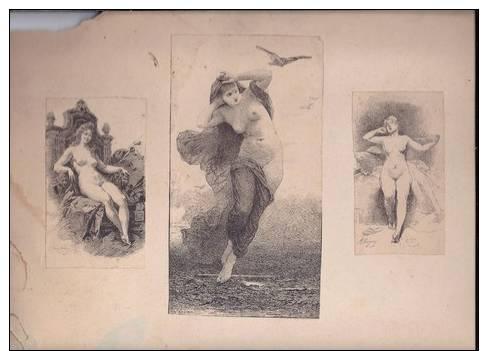 3 Images De Scène De Nue Dont 1 De Louis Beroud 1896, 1 De Versav, 1 De Guyon - Other Collections