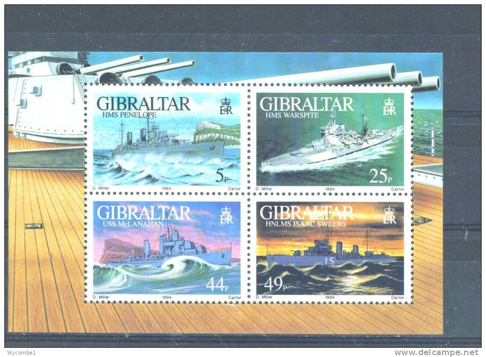 GIBRALTAR  -  1993  Warships   Miniature Sheet  UM - Gibraltar