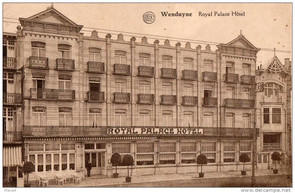 20462  Belgio,  Wenduyne,  Royal  Palace  Hotel,  VG  1923 - Wenduine