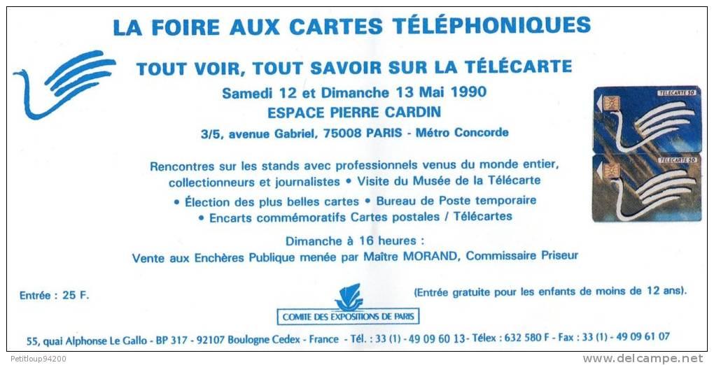 PUBLICITE FOIRE AUX CARTES TELEPHONIQUES  MAI 1990 - Livres & CDs