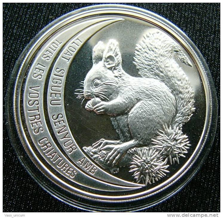 Andorra 10 Diner 1992 Squirrel Silver Proof - Andorre