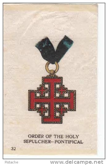 Ordre Saint-Sépulcre - Vintage Patch - Cigarette Tobacco Silk - Coats Of Arms – Armoiries - Blazoenen (textiel)