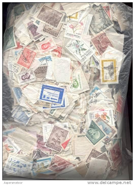 472 GRAMOS GRAMS DE SELLOS DE LA REPUBLICA ARGENTINA ESTAMPILLAS TIMBRES ZEGELS BOLLI - Lots & Kiloware (mixtures) - Min. 1000 Stamps