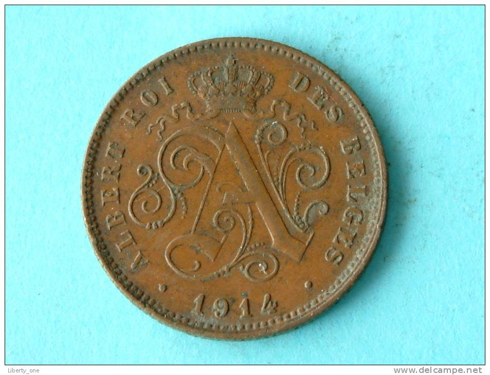 1914 FR - 2 CENT / Morin 314 ( Uncleaned Coin / For Grade, Please See Photo ) !! - 1909-1934: Albert I
