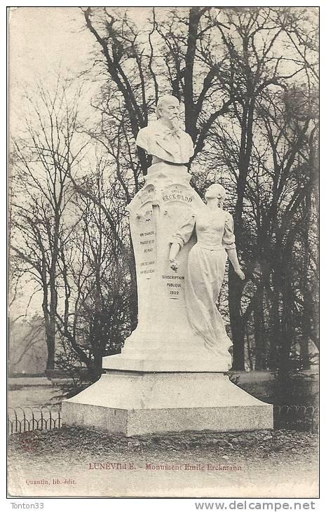 LUNEVILLE (54)  Le Monument D´EMILE ERCKMANN  1164 - Luneville