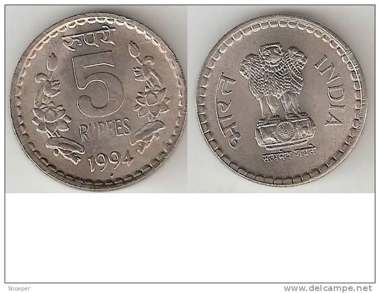 *india 5 Rupee 1994 B   Km 154.1 Xf+ - Inde