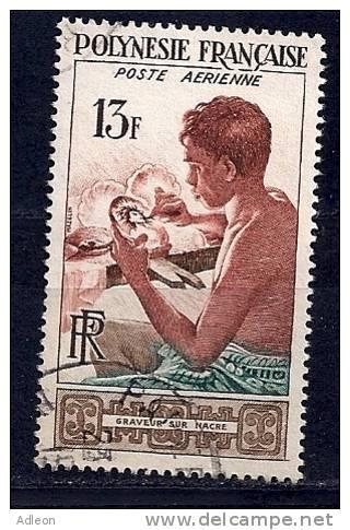 Polynésie - Graveur Sur Nacre -YT PA 1 Obl. - Poste Aérienne