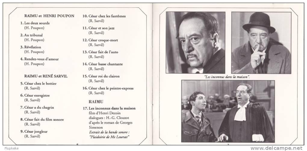 Cd Les Étoiles De L´Écran Raimu La Collection André Renard Raimu Et Henri Poupon Raimu Et René Sarvil - Sonstige